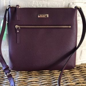 Kate Spade- Rima Laurel Way Crossbody Deepplum